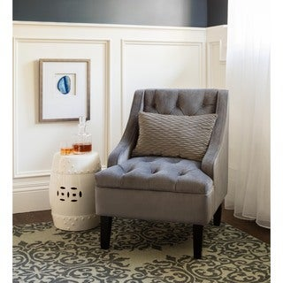 ABBYSON LIVING Laguna Tufted Steel Blue Swoop Chair