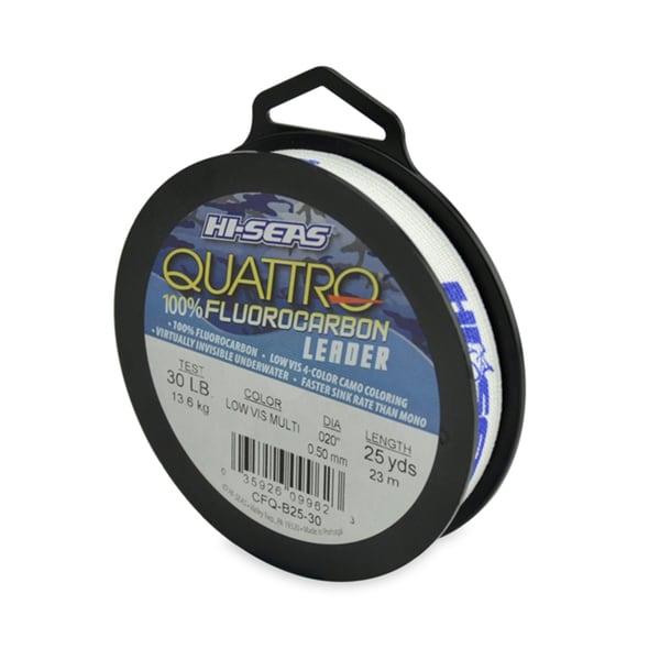 Hi-Seas Quatrro 100-percent Fluorocarbon Leader Camo 25-yard Fishing Line
