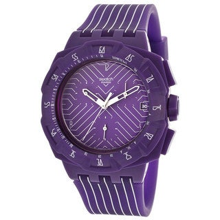 Swatch Men's 'Purple Run' Swiss Quartz Watch