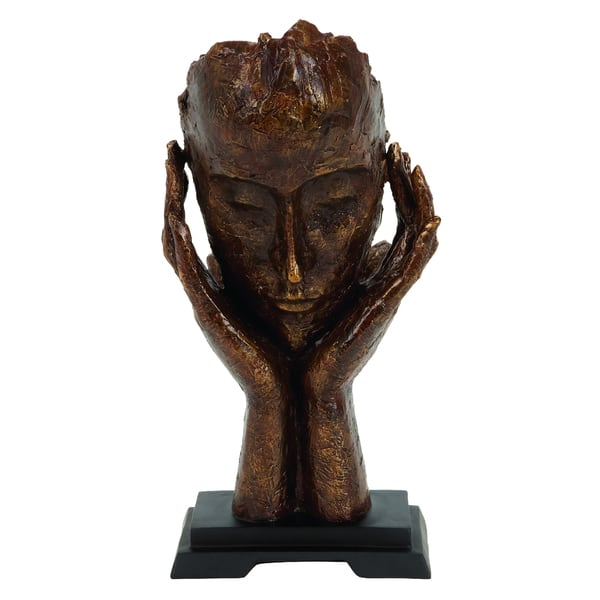 The Thinker Contemporary 16 Inch Table Sculpture Decor