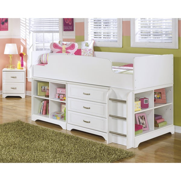 Shop Signature Design By Ashley Lulu White Twin Loft Bed Set Overstock 9421464