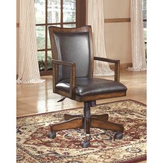 Hamlyn Traditional Home Office Swivel Desk Chair Medium Brown