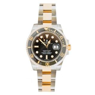 Pre-Owned Rolex Men's Two-tone Submariner Model 116613 Ceramic Bezel Black Dial Watch