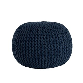 Cotton Twisted Rope Pouf (Option: Purple)