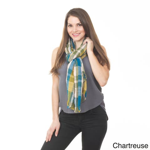 Checkered Design Shawl