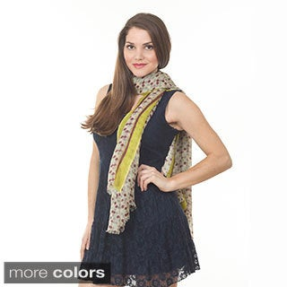Women's Multi Dot Wool Shawl