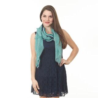 Women's Green Circle Wool Shawl