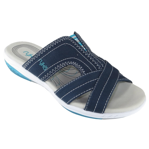 Shop Ryka Women S Tensile Canvas Slide Sandals Free