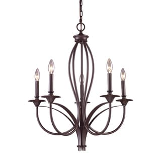 Elk Lighting 'Medford' 5-light Oil-rubbed Bronze Chandelier