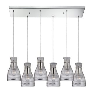 Elk Lighting Strata 6-light Polished Chrome Chandelier