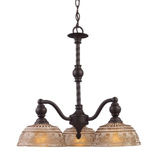 Elk Lighting 'Norwich' 3-light Oil-rubbed Bronze Chandelier