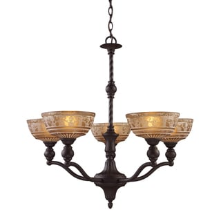 Elk Lighting 'Norwich' 5-light Oil-rubbed Bronze Chandelier