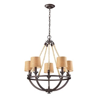 Elk Lighting 5-light Natural Rope Aged Bronze Chandelier