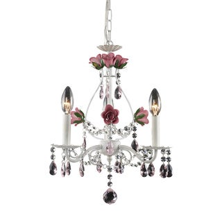 Elk Lighting MaryKate & Ashley Rosavita 3-light Antique White Chandelier