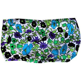 Azul Swimwear Violet and Blue Floral Pattern Headband