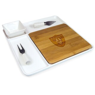 Picnic Time NFL AFC Teams Peninsula Cutting Board Serving Tray with Cheese Tools (More options available)