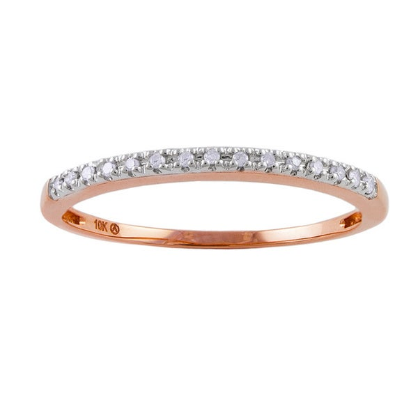 10k Rose Gold Diamond Accent Band