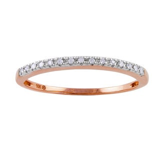 Beverly Hills Charm 10k Rose Gold Diamond Accent Band