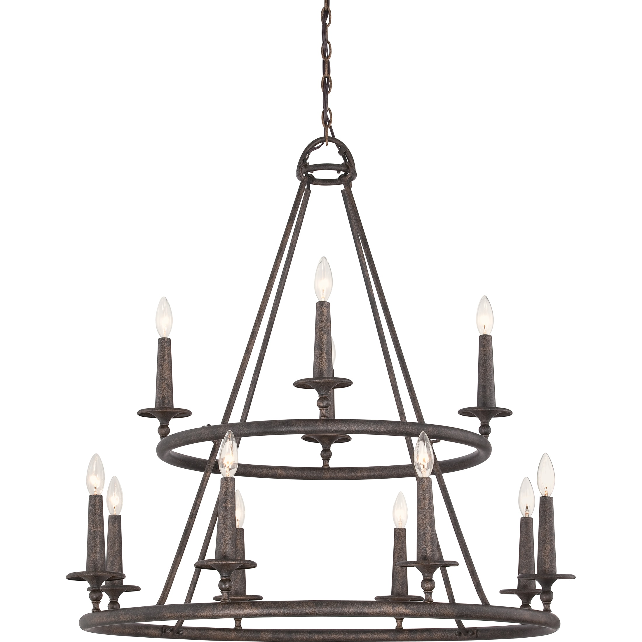 Shop Quoizel Voyager 12 Light Malaga Two Tier Chandelier
