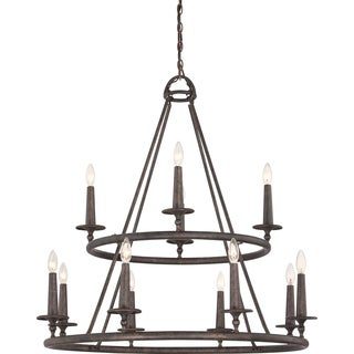 Quoizel Voyager 12-light Malaga Two-tier Chandelier