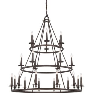 Quoizel Voyager 24-light Malaga 3-tier Chandelier