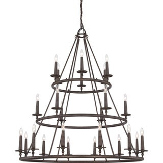 Voyager 24-light Malaga 3-tier Chandelier