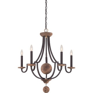 Quoizel Wyndmoor 5-light Western Bronze Chandelier