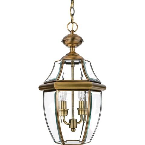 Quoizel Newbury Antique Finish Medium 2-light Hanging Lantern