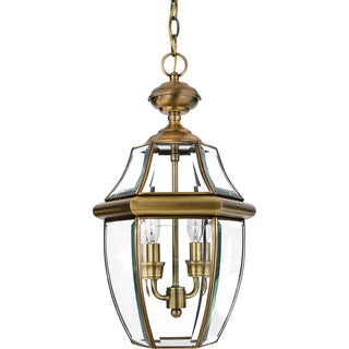 Quoizel Newbury Antique Finish Medium 2-light Hanging Lantern