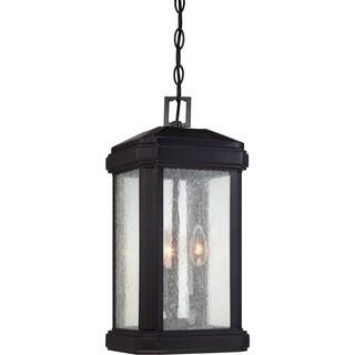 Quoizel Trumbull 3-light Mystic Black Large Hanging Lantern