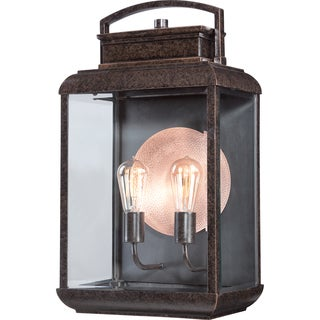 Carbon Loft Lester 2-light Bronze Wall Lantern