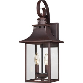 Quoizel Chancellor 2-light Copper Bronze Medium Wall Lantern