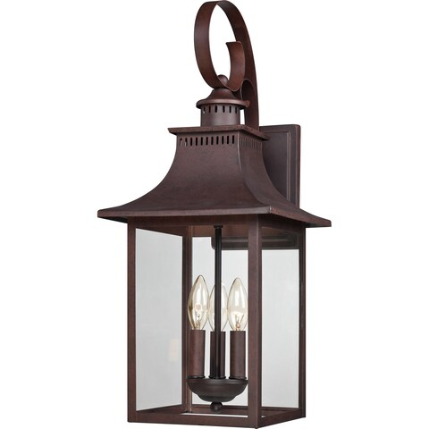 Quoizel Chancellor 3-light Copper Bronze Large Wall Lantern
