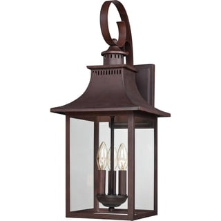 Chancellor 3-light Copper Bronze Large Wall Lantern