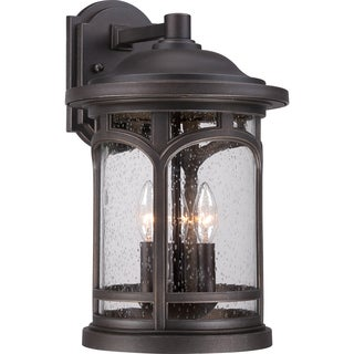 Marblehead Palladian Bronze Finish Large Wall Lantern