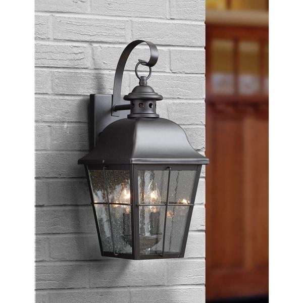 Quoizel Millhouse Mystic Black Medium Wall Lantern