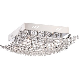 Quoizel Valla 9-light Polished Chrome Extra Large Flush Mount