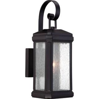 Quoizel 'Trumbull' 1-light Mystic Black Small Wall Lantern