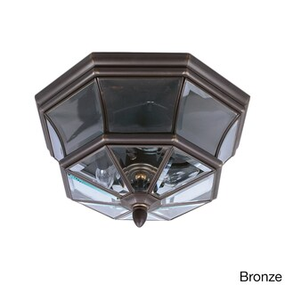 Quoize 'Newbury' 3-light Outdoor Flush Mount (Option: Bronze - Bronze Finish)