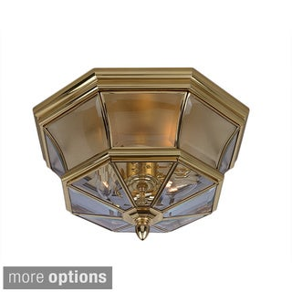 Quoizel 'Newbury' 3-light Outdoor Flush Mount