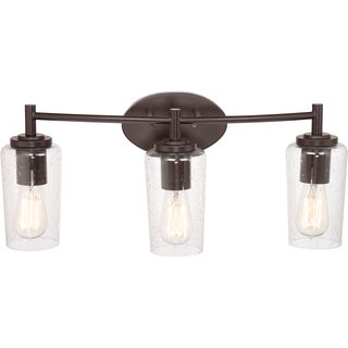 Edison Western Bronze 3-light Bath Fixture