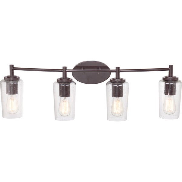 western bathroom light fixtures shop quoizel edison western bronze 4 light bath fixture 21371