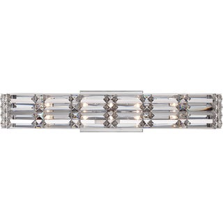 Royale Polished Chrome and Crystal 5-light Bath Fixture