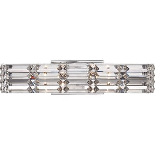 Royale Polished Chrome and Crystal 4-light Bath Fixture
