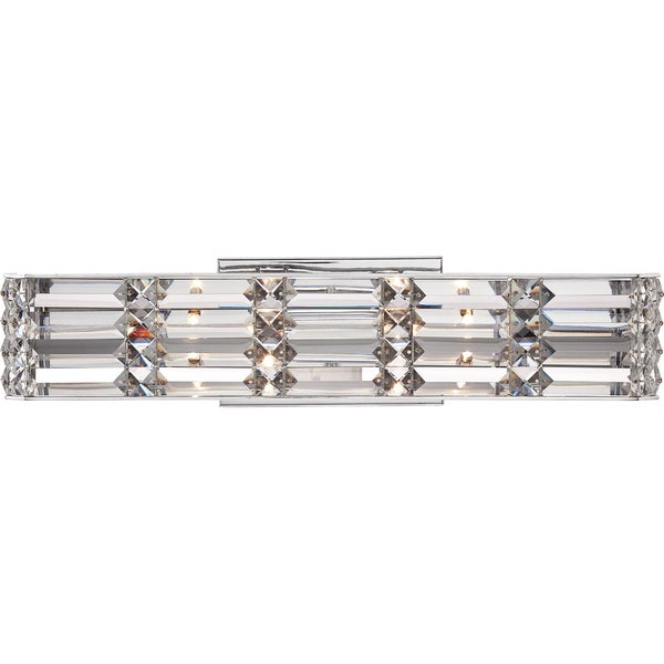 Shop Quoizel Royale Polished Chrome And Crystal 4 Light Bath Fixture Free Shipping Today