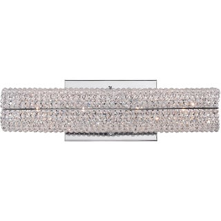 Quoizel Evermore Polished Chrome and Crystal 4-light Bath Fixture