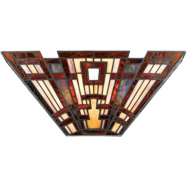 Shop Quoizel Craftsman Art Glass 2-light Pocket Wall Sconce - Free ...