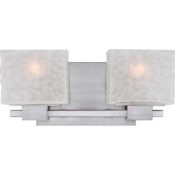 Quoize 'Melody' 2-light Brushed Nickel Bath Fixture