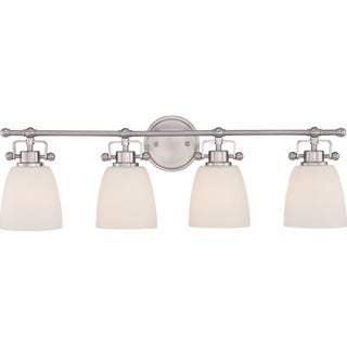 Quoize 'Bower' 4-light Brushed Nickel Bath Vanity