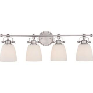 Quoizel 'Bower' 4-light Brushed Nickel Bath Vanity